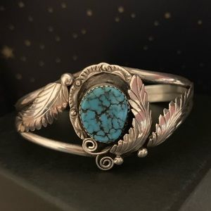 Navajo Turquoise And Silver Bracelet Cuff